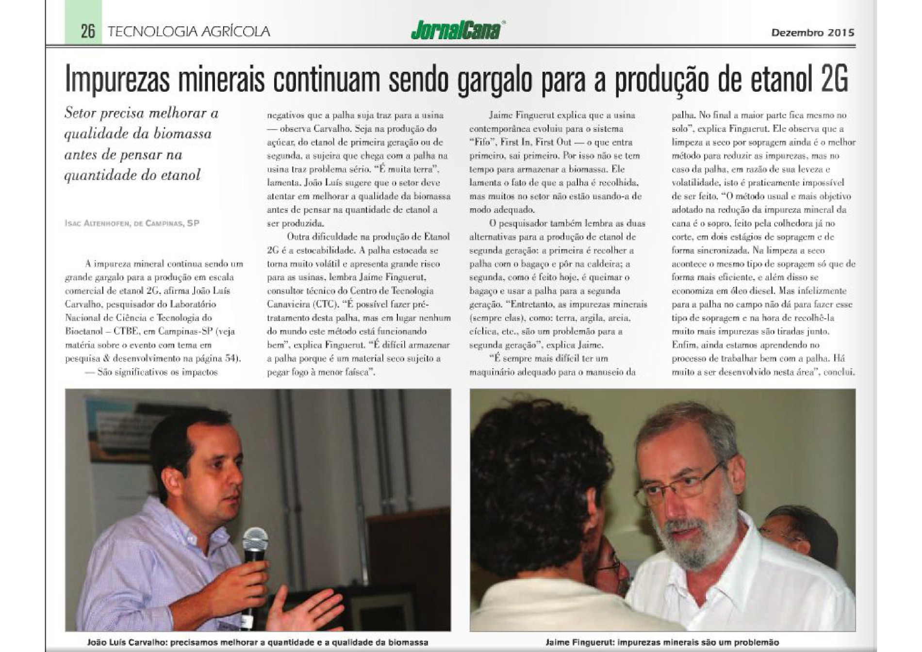 Clipping CTBE - Jornal Cana